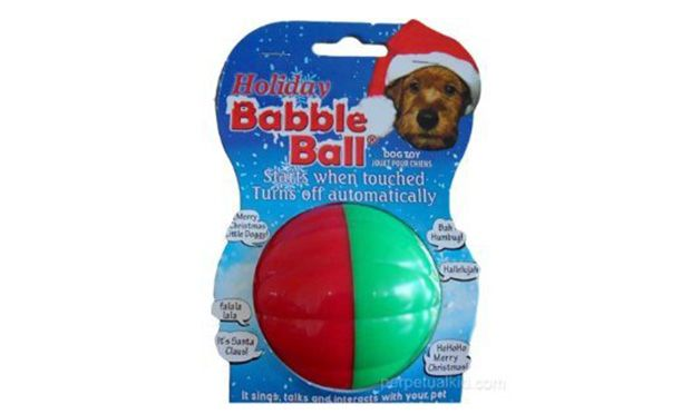 Holiday Babble Ball Dog Toy
