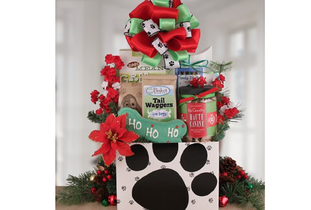 Pooch Heaven Holiday Dog Gift Basket