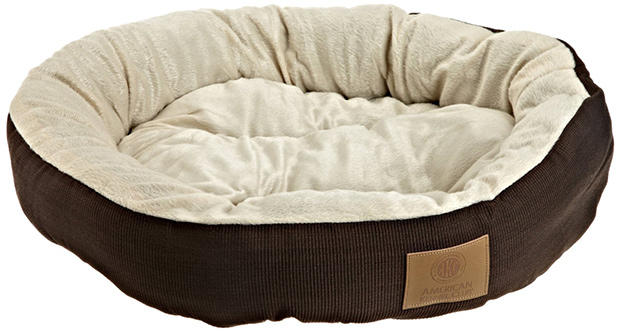 AKC Casablanca Round Solid Pet Bed