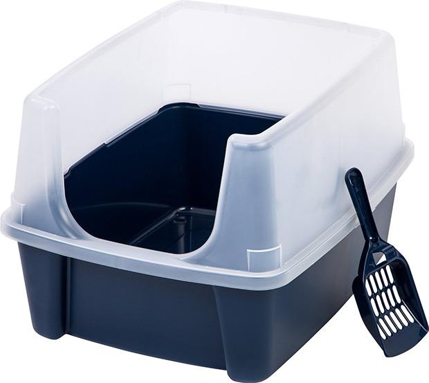 IRIS Open-Top Litter Box with Shield