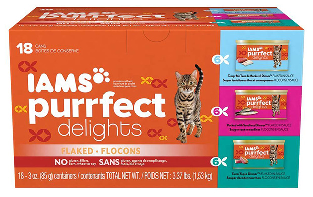 IAMS Purrfect Delights Flaked in Sauce Variety Pack Wet Canned Cat Food