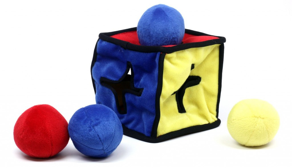 Kyjen I-Qube Dog Toy Puzzle Plush