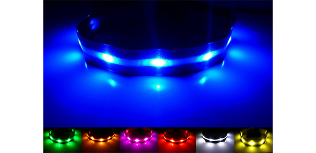 GoDoggie Glow USB Rechargeable LED Dog Safety Collar