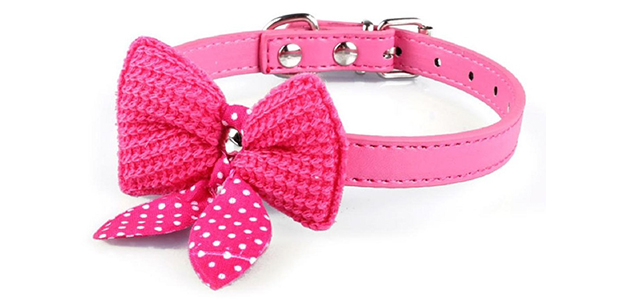 Mokingtop Hot Cute Knit Bowknot Adjustable Collar